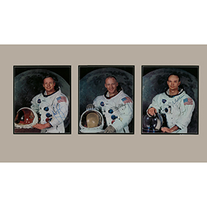 Neil Armstrong/Michael Collins/ Edwin 'Buzz' Aldrin -  Signed Photographs - Framed