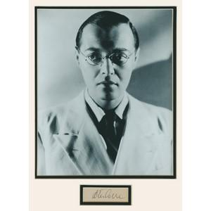 Peter Lorre  Signature Mounted with Black and White Photograph - Framed