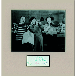 The Three Stooges -  Black and White Photograph with Signatures - Framed