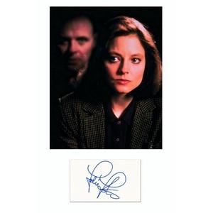 Jodie Foster - Autograph - Signature Mounted with Colour Photograph