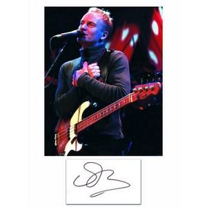 Sting - Autograph - Signature with Colour Photograph