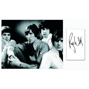 Roger Waters - Autograph - Signature with Black and White Photograph
