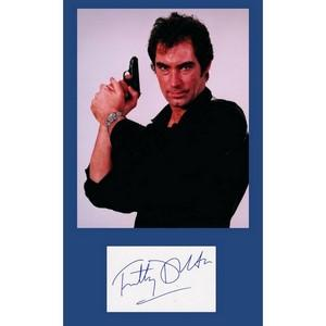 Timothy Dalton - Autograph - Signature Mounted with Colour Photograph