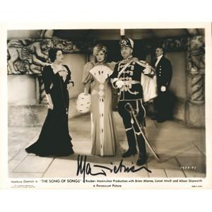 Marlene Dietrich - Autograph - Signed Black and White Photograph