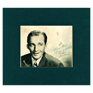 Bing Crosby - Autograph - Signed Black and White Photograph