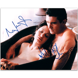 Antonio Banderas & Angelina Jolie  Signed Colour Photograph