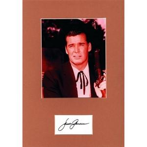 James Garner - Autograph - Signature Mounted with Black and White Photograph