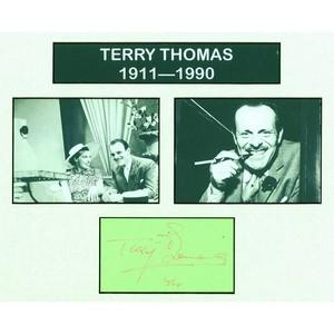Terry Thomas - Autograph - Signature Mounted with Black and White Photographs