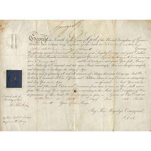 King George IV Signature