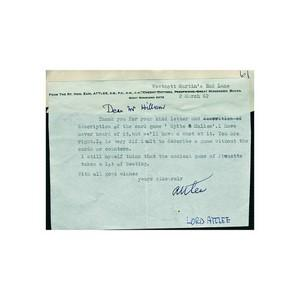 Clement Attlee - Signature