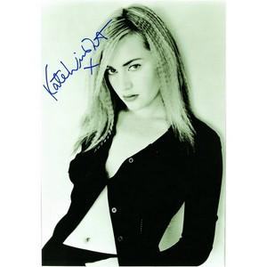 Kate Winslett - Autograph - Signed Black and White Photograph