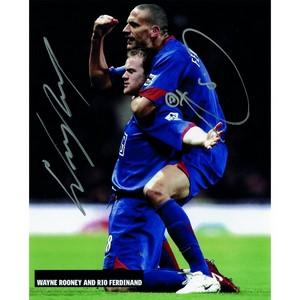 Rooney & Ferdinand - Autograph - Signed Colour Photograph