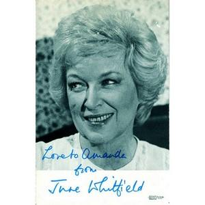 June Whitfield Autograph - Signed Black and White Photograph