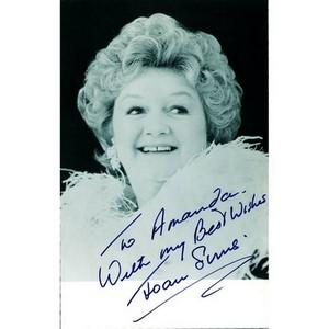 Joan Sims - Autograph - Signed Black and White Photograph