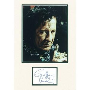 Geoffrey Rush - Autograph - Signature Mounted with Colour Photograph