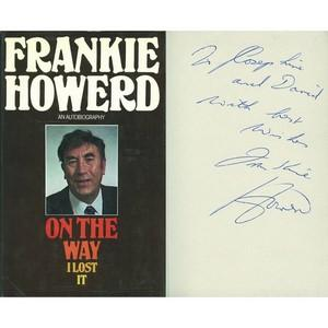 Frankie Howerd Signed Book ' On the Way I Lost I't