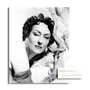 Gloria Swanson Black and White Photograph with Signature