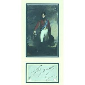 King George IV - Signature - Signed Page and Portrait