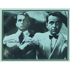 Paul Henreid Signed Black and White Photograph - Framed