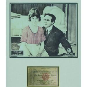 Harry Houdini - Signature - Signed Membership Card & Portrait - Framed