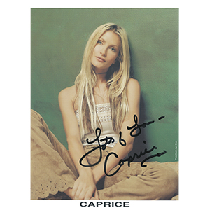 Caprice - Autograph - Signed Colour Photograph