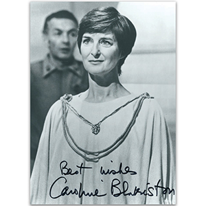 Caroline Blakiston - Autograph - Signed Black and White Photograph