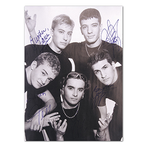 N.S.Y.N.C - Autograph - Signed Black and White Photograph
