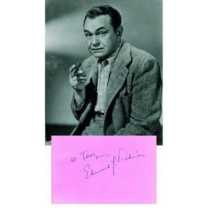 Edward G. Robinson - Autograph - Signed Page and Photograph
