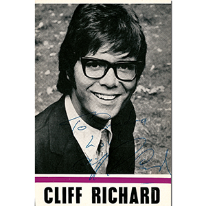 Cliff Richard - Autograph - Signed Black & White Photograph