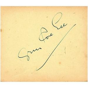 Gypsy Rose Lee - Autograph - Signed Page
