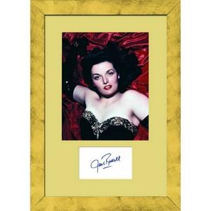 Jane Russell - Autograph - Signed Page and Photo