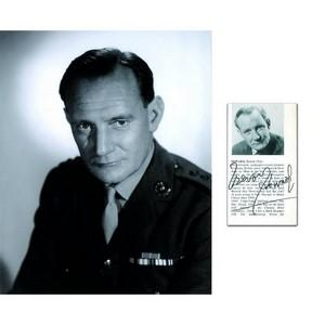 Trevor Howard - Autograph - Signature with Black and White Photograph