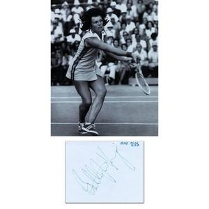 Billie Jean King - Autograph - Signed Page and Photograph