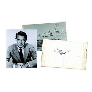 Cary Grant - Autograph - Signed Black and White Photograph