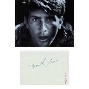 Martin Sheen - Autograph - Autograph Mounted with Black and White Photograph