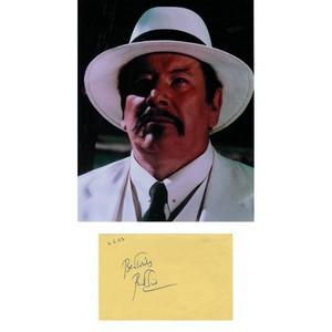 Peter Ustinov - Autograph - Autograph Mounted with Colour Photograph