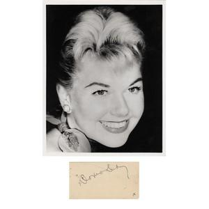 Doris Day - Autograph - Signature Mounted with Black and White Photograph