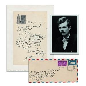 Aldous Huxley - Signature - Signed Hand Written Letter