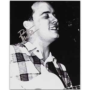 Dave Matthews - Autograph - Signed Black and White Photograph