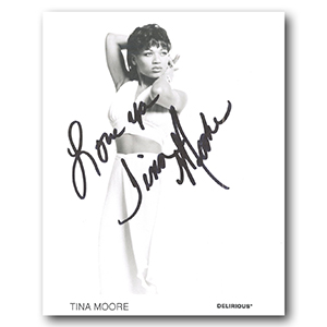 Tina Moore - Autograph - Signed Black and White Photograph