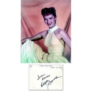 Debbie Reynolds - Autograph - Signature Mounted with Colour Photograph
