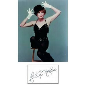 Shirley Maclaine -  Autograph - Signature Mounted with Colour Photograph