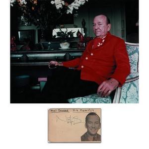 Noel Coward - Autograph - Signed Colour Photograph