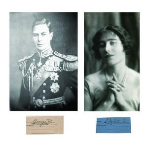 George VI & Queen Elizabeth (Queen Mother) - Signature