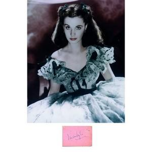 Vivien Leigh -  Autograph - Signature Mounted with Black & White Photograph