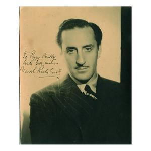 Basil Rathbone - Autograph - Signed Black and White Photograph