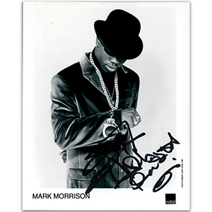 Mark Morrison - Autograph - Signed Black and White Photograph