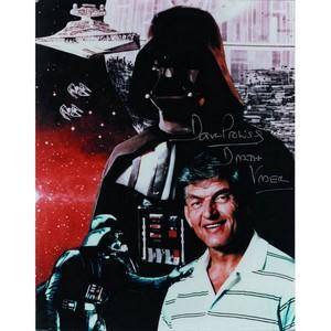 David Prowse Darth Vader Star Wars Signed Colour Photograph