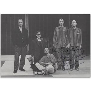Ian McKellen and Michael Cashman - Autograph - Signed Black and White Photograph