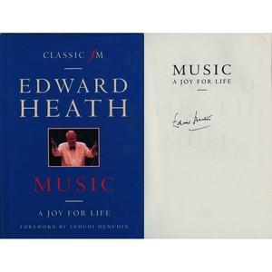 Edward Heath Signed Book
